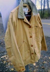 L.L. Bean Adirondack Field Coat Plaid Lining Med.